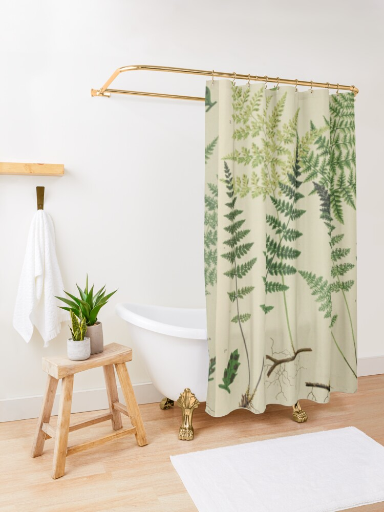 Alternate view of Botanical Ferns Shower Curtain