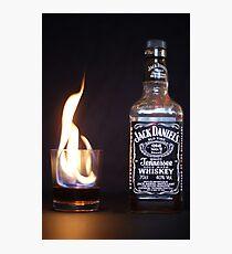 Flaming JD  Photographic Print