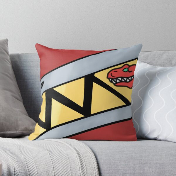 Dino Charge Red Ranger Suit Stripe Throw Pillow