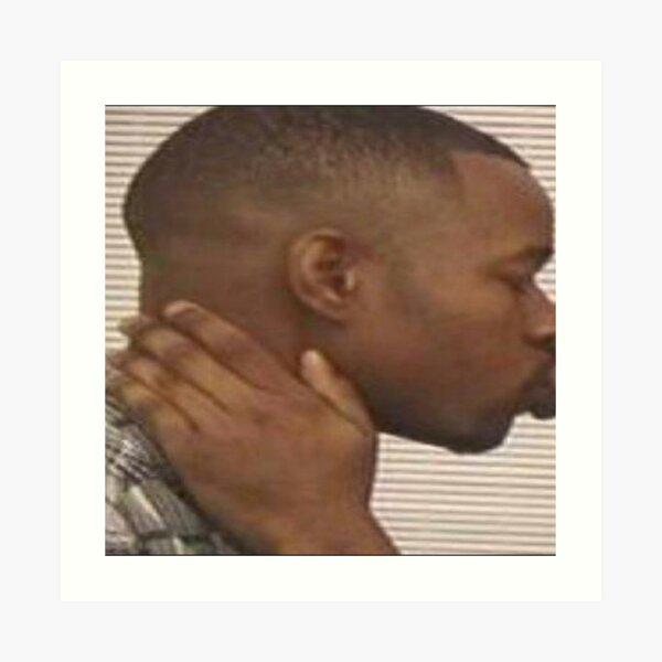 Two Black Men Kissing Meme Left Art Print
