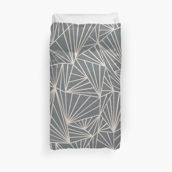 Ab Fan Grey And Nude Duvet Cover