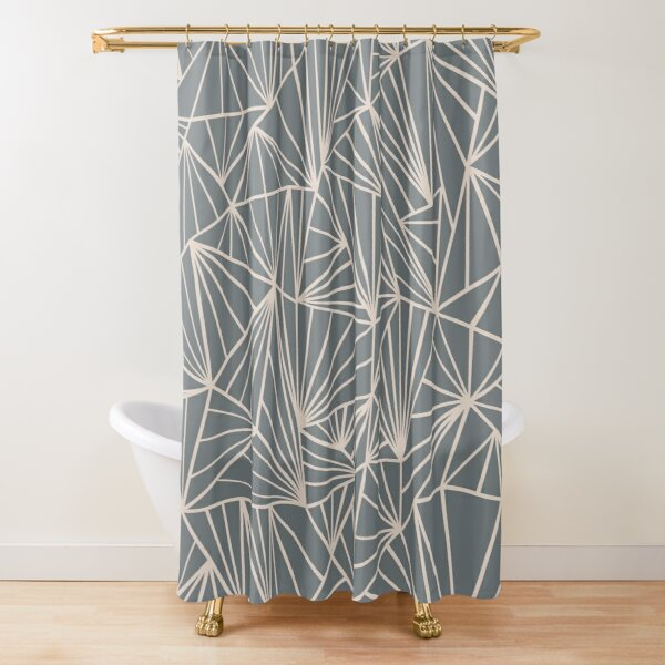 Ab Fan Grey And Nude Shower Curtain