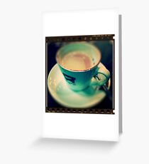 Tilt/Shif Coffee ~ iPhone Greeting Card