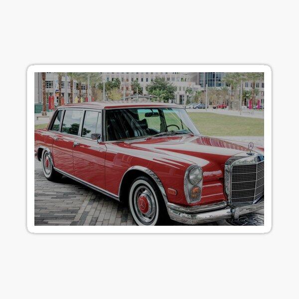 Classic Red Limousine Sticker