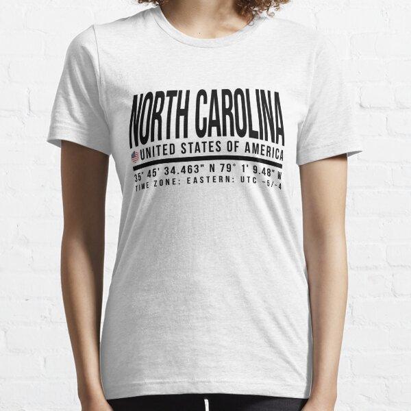 North Carolina Proud (Black text) Essential T-Shirt