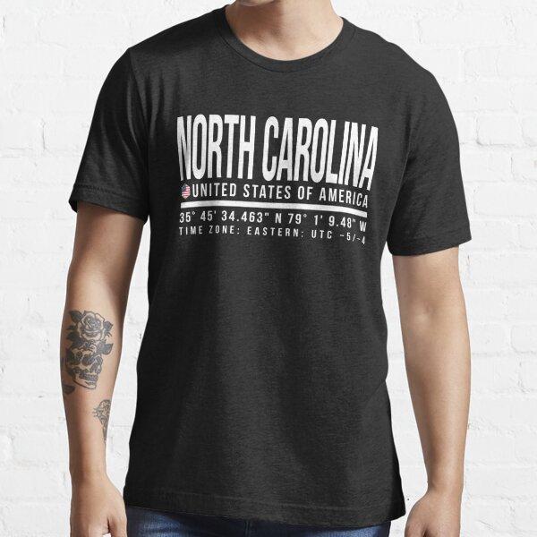 North Carolina Proud (White text) Essential T-Shirt