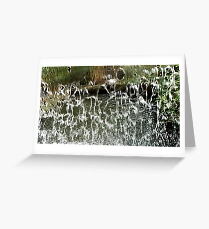Holes In A Waterfall Greeting Card