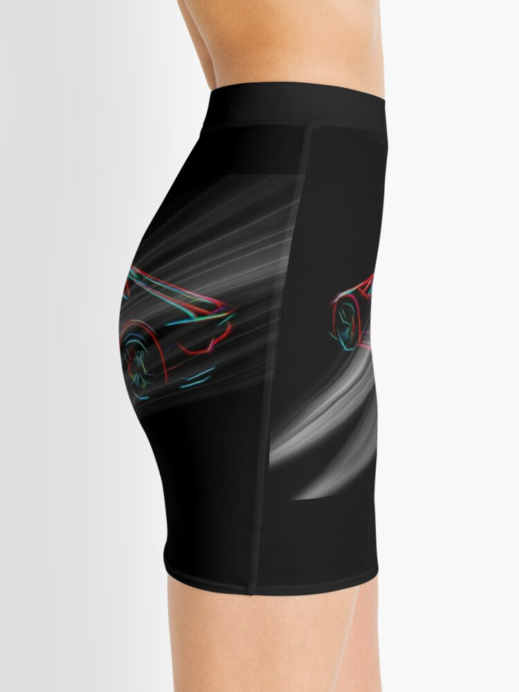 Alternate view of Lambo Digitally Enhanced Mini Skirt