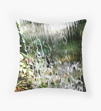 A Tropical World and Water Throw Pillow