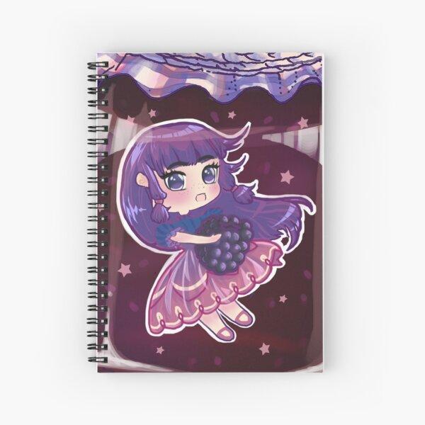 Blackberry Jam Chibi Anime Girl Spiral Notebook