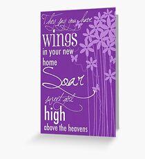 Soar Sweet Girl Greeting Card