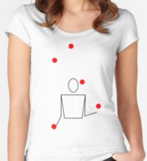 JugglingLab (White) Women's Fitted Scoop T-Shirt
