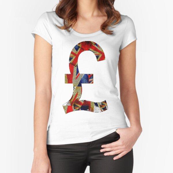 British Pound Fitted Scoop T-Shirt