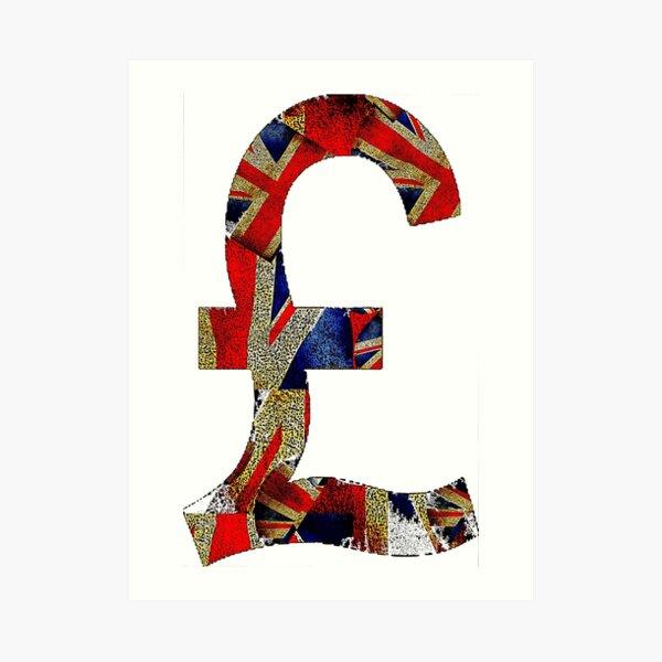 British Pound Art Print