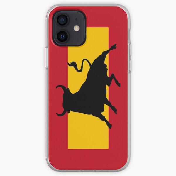 Spanish flag with bull Funda blanda para iPhone