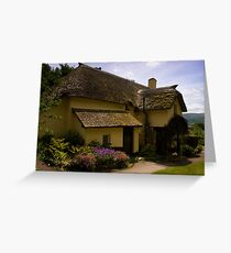 Periwinkle Cottage,Selworthy Exmoor Greeting Card
