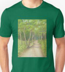 Path Through the Trees, Leith Hill, Surrey T-Shirt