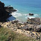 Coast Path Walk near Trevone Bay, Cornwall by Fiona Cross