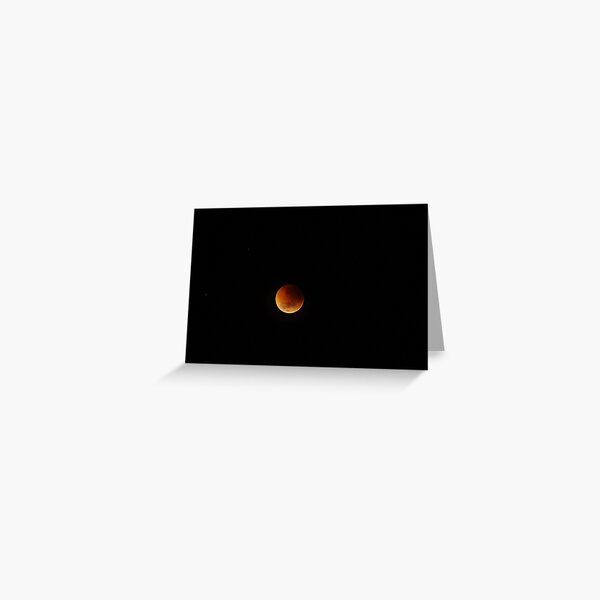 Volcanic Moon Greeting Card