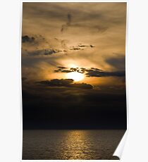 Sunset Breaking Through The Clouds Poster