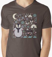Penguin Small  Men's V-Neck T-Shirt