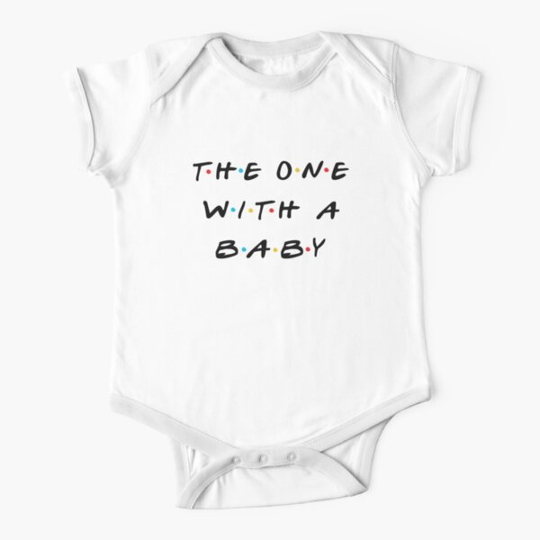 The one with a baby Short Sleeve Baby One-Piece