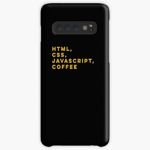 Programmer HTML css javascript coffee Samsung Galaxy Snap Case