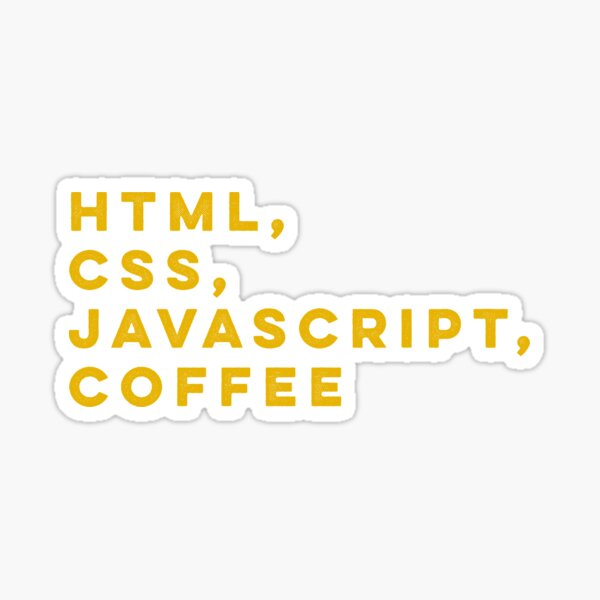Programmer HTML css javascript coffee Sticker