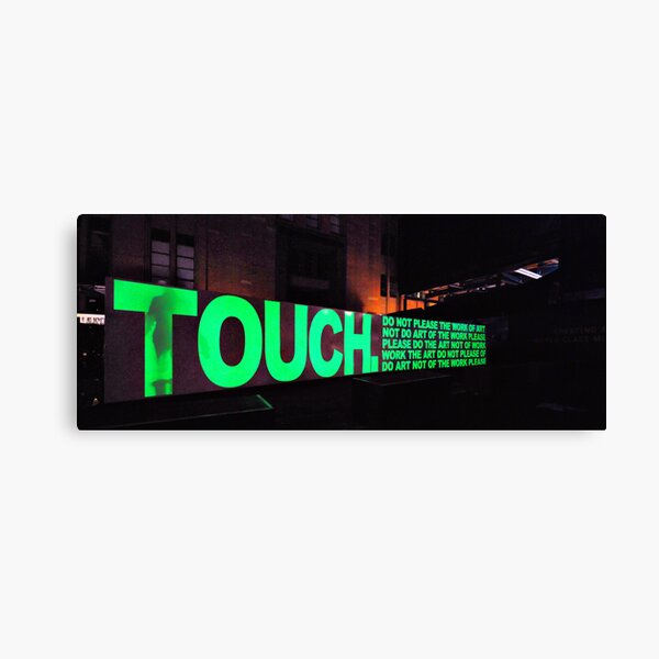 Touch. do not please the work of art Canvas Print