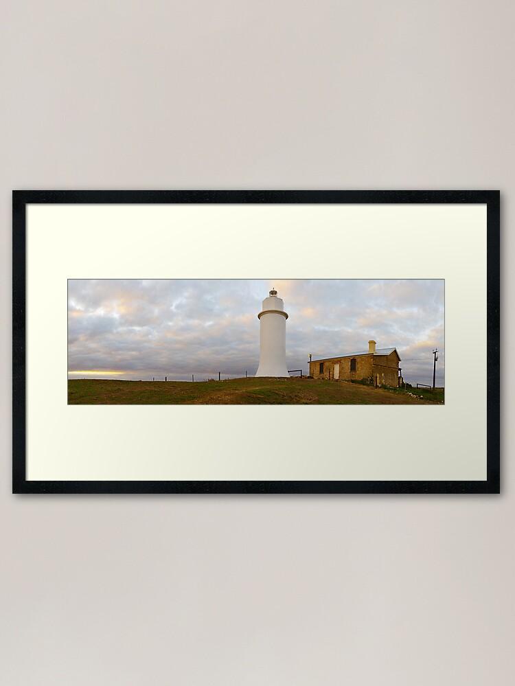 Alternate view of Point Malcom Lighthouse, Lake Alexandrina, South Australia Framed Art Print