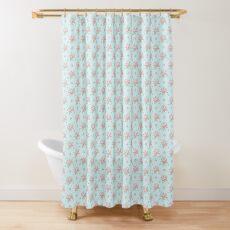 Vintage Bouquet Pink Blue Shower Curtain