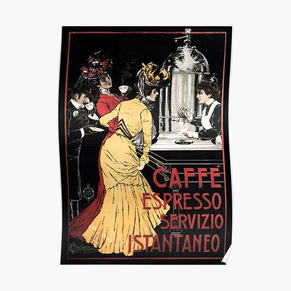 CAFFE ESPRESSO SERVIZIO ISTANTANEO Vintage Italian Advertisement Poster