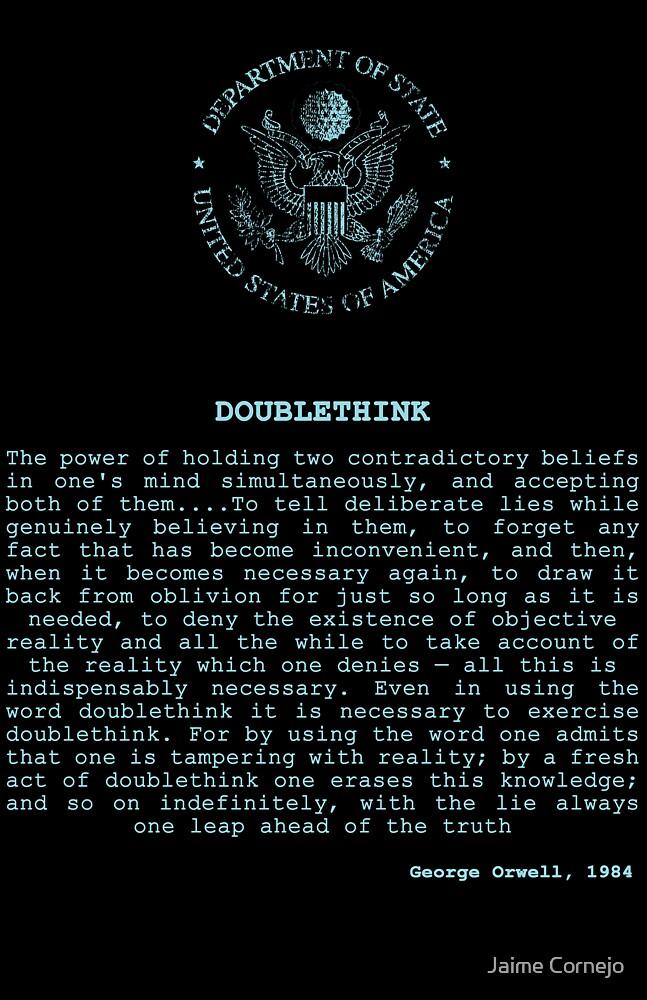 DOUBLETHINK by Jaime Cornejo