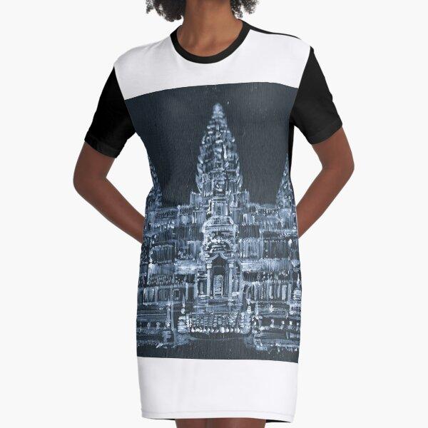 ANGKOR WAT Graphic T-Shirt Dress