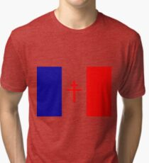 Free French Forces T-Shirt Tri-blend T-Shirt