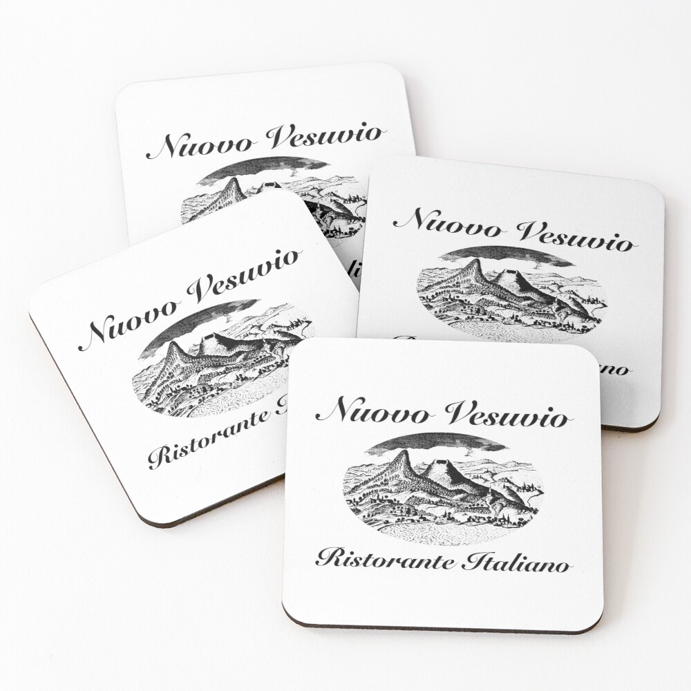 Nuovo Vesuvio (Artie Bucco, Sopranos) Coasters (Set of 4)