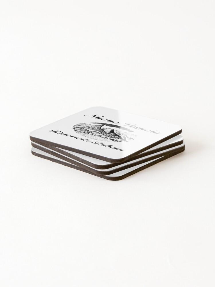 Alternate view of Nuovo Vesuvio (Artie Bucco, Sopranos) Coasters (Set of 4)