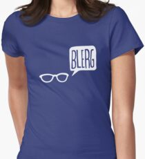 White Blerg Women's Fitted T-Shirt