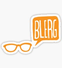 BLERG ORANGE! Sticker