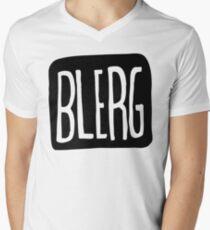 BIG BLERG Mens V-Neck T-Shirt