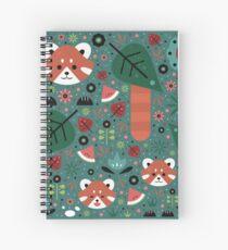 Red Panda & Cubs Spiral Notebook