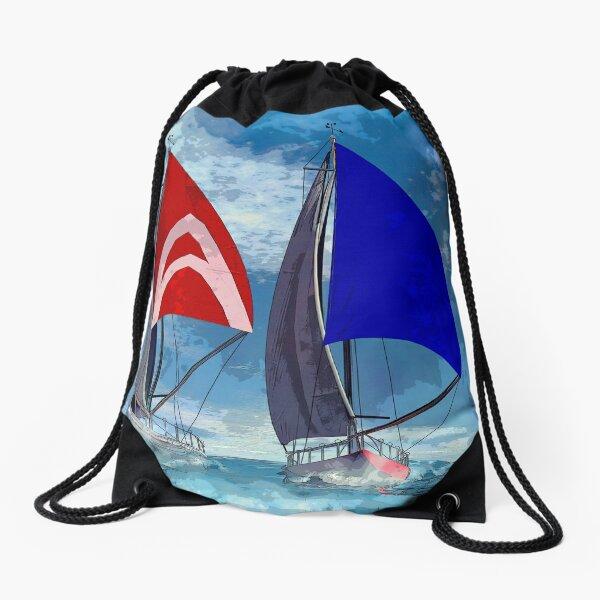 Racing home Drawstring Bag