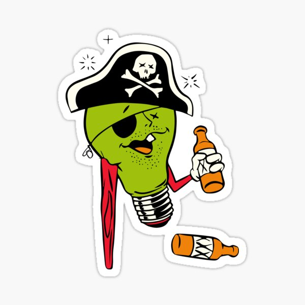 Stumpy the pirate Sticker
