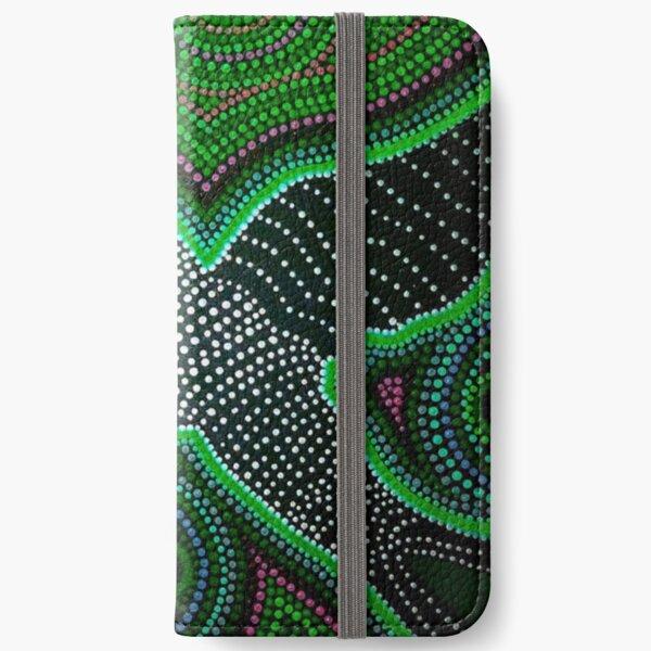 Black cockatoo - green dreaming iPhone Wallet