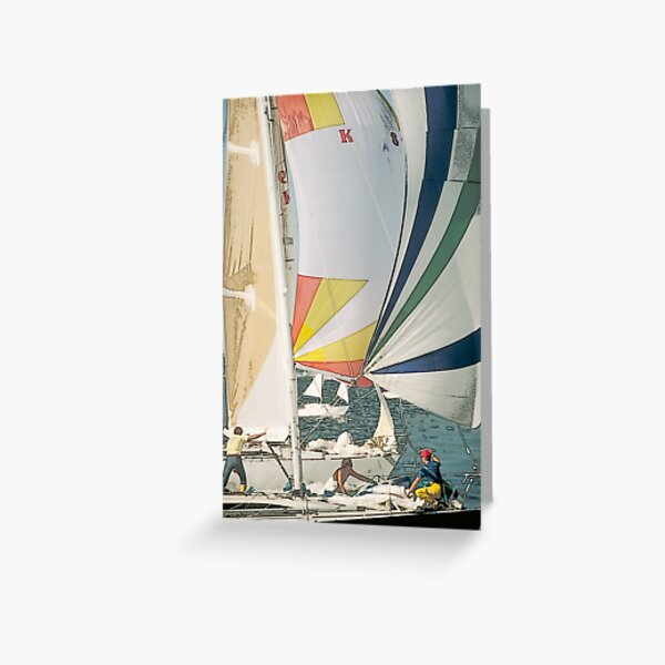 Racing yachts Greeting Card