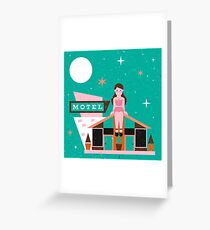 Motel Greeting Card