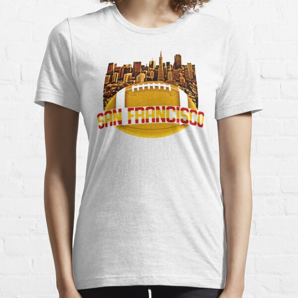 San Francisco Skyline Red Gold  Essential T-Shirt