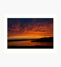Sunset on the Severn  Art Print