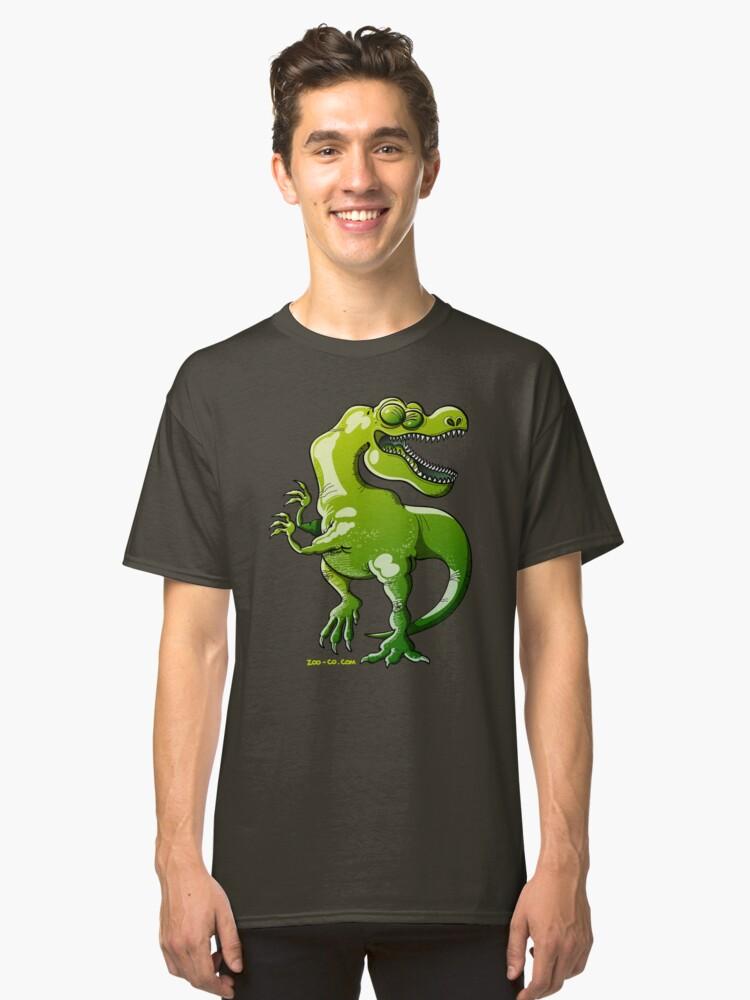 Dancing Tyrannosaurus Rex Classic T-Shirt Front