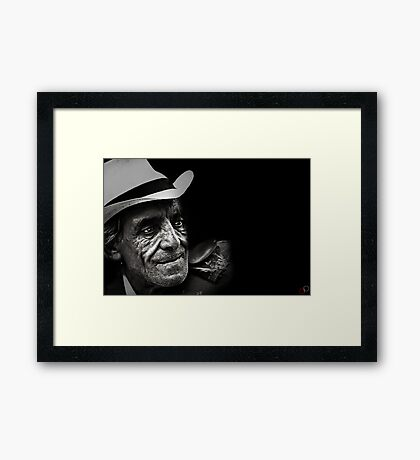 Faces of Venice - The Busker Framed Print